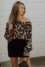 LUXE Running Wild Oversized Cheetah Sweater