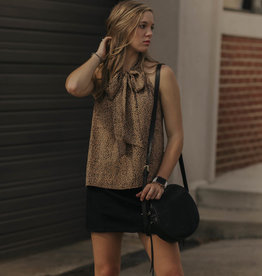 LUXE Never Let You Go Tie Blouse