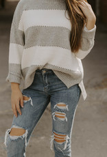 LUXE Lost In The Moment Striped Sweater