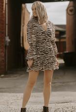 LUXE Sure To Fall In Love Zebra Dress
