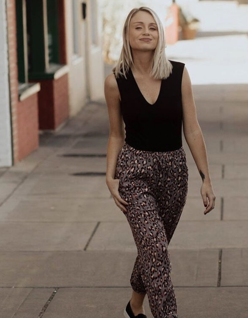 LUXE We Can Be Forever Animal Print Joggers