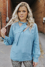 LUXE Always Follow The Light Chambray Top