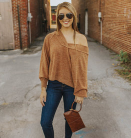 LUXE Just One Minute Vneck Sweater
