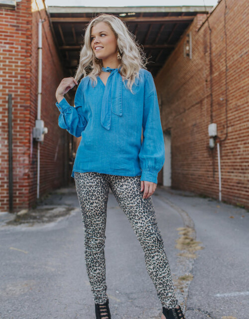 LUXE Wild About Leopard Print Jeans