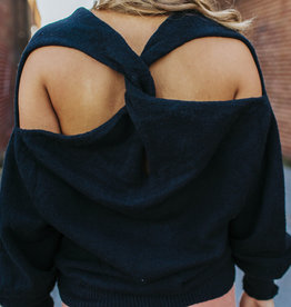 LUXE If You'll Love Me Twist Back Sweater