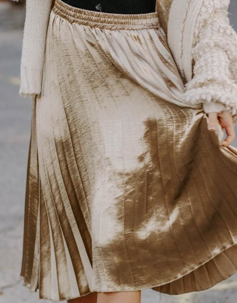 LUXE Promise To Never Leave Pleated Skirt
