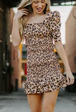 LUXE These Are The Nights Leopard Print Dress