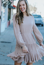 LUXE Sure To Fall In Love Tie Dress