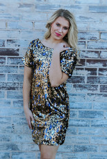 LUXE Step Into the Spotlight Sequin Dress