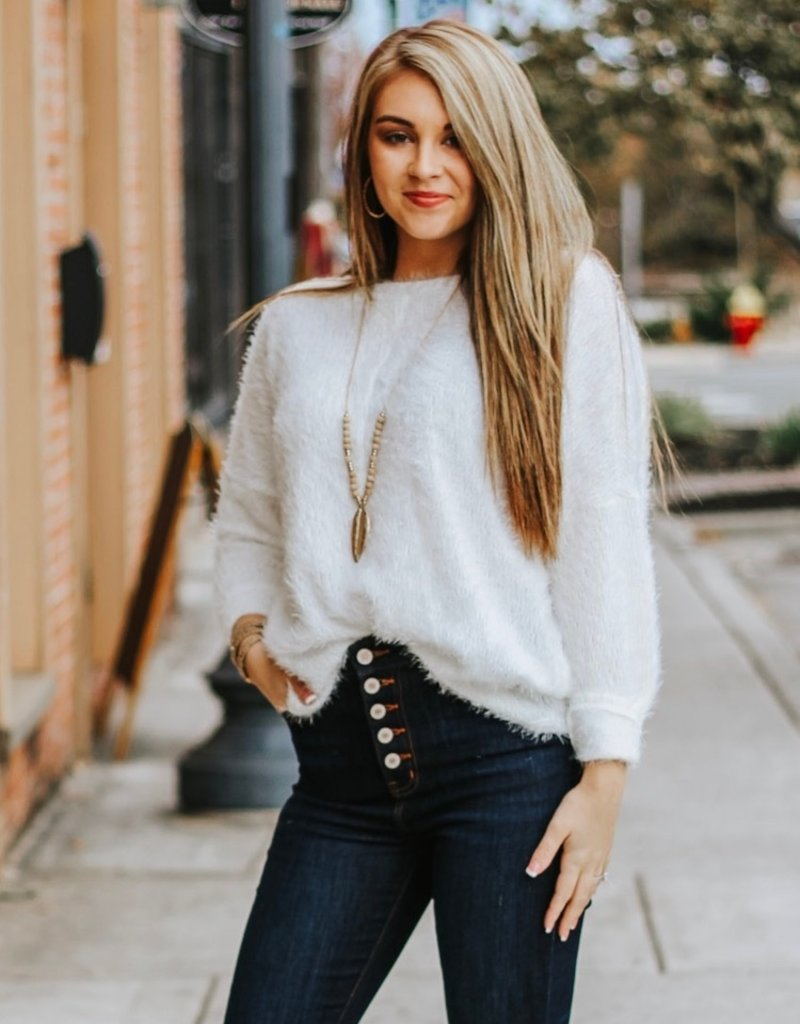 LUXE Fuzzy Love Sweater