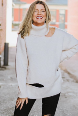 LUXE Ripped Up Turtleneck