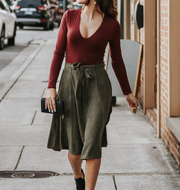 LUXE Play the Day Away Midi Skirt