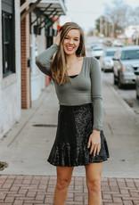 LUXE Dance The Night Away Sequin Skirt