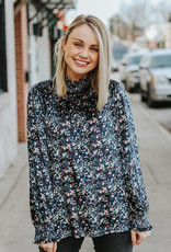 LUXE Fall For Floral Blouse
