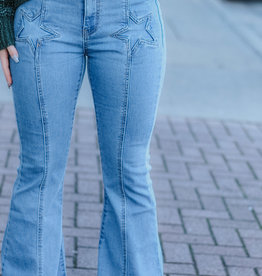 LUXE Star Pocket Flare Jeans