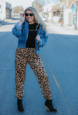 LUXE Love Like This Leopard Joggers