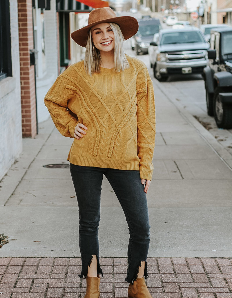LUXE Maybe Forever Mustard Sweater