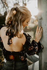 LUXE Fun + Floral Backless Blouse