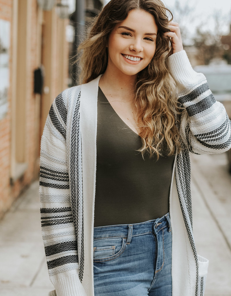 LUXE Chasing A Dream Chunky Pocket Cardigan