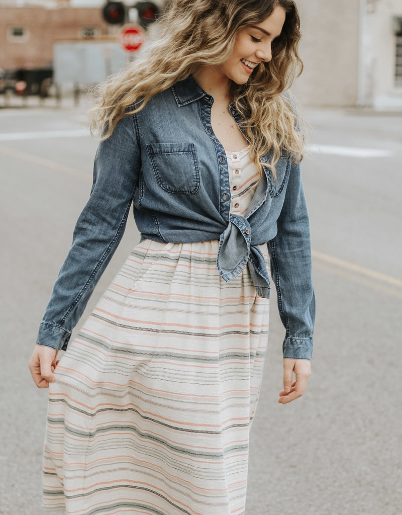 LUXE Simply Sweet Striped Dress