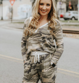 LUXE Hard To Miss Me Camo Joggers