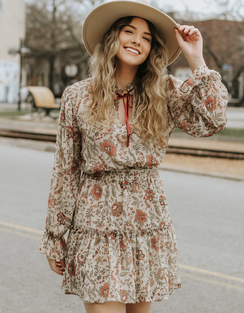 LUXE Falling For You Floral Dress