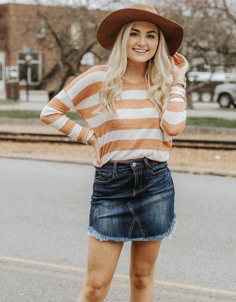 LUXE Sweeter Than Ever Striped Sweater