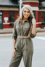 LUXE On The Go Olive Jumpsuit