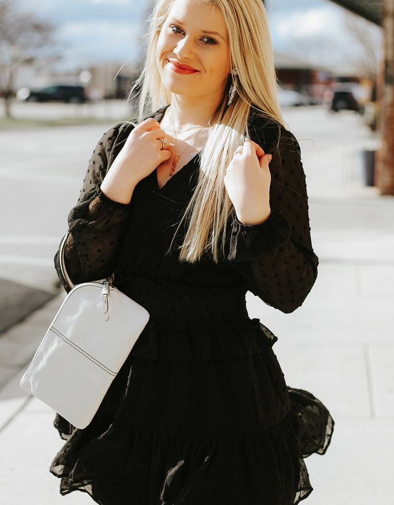 LUXE Ready For Anything Ruffle Dress