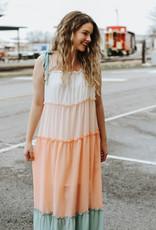 LUXE Dawn Daydreams Multicolor Ombre Maxi Dress