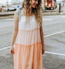 LUXE Dawn Daydreams Multicolor Ombre Maxi Dress