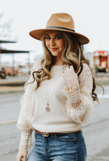 LUXE With A Love Like This Sandshell Blouse
