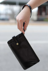 HOBO Black King Leather Wristlet