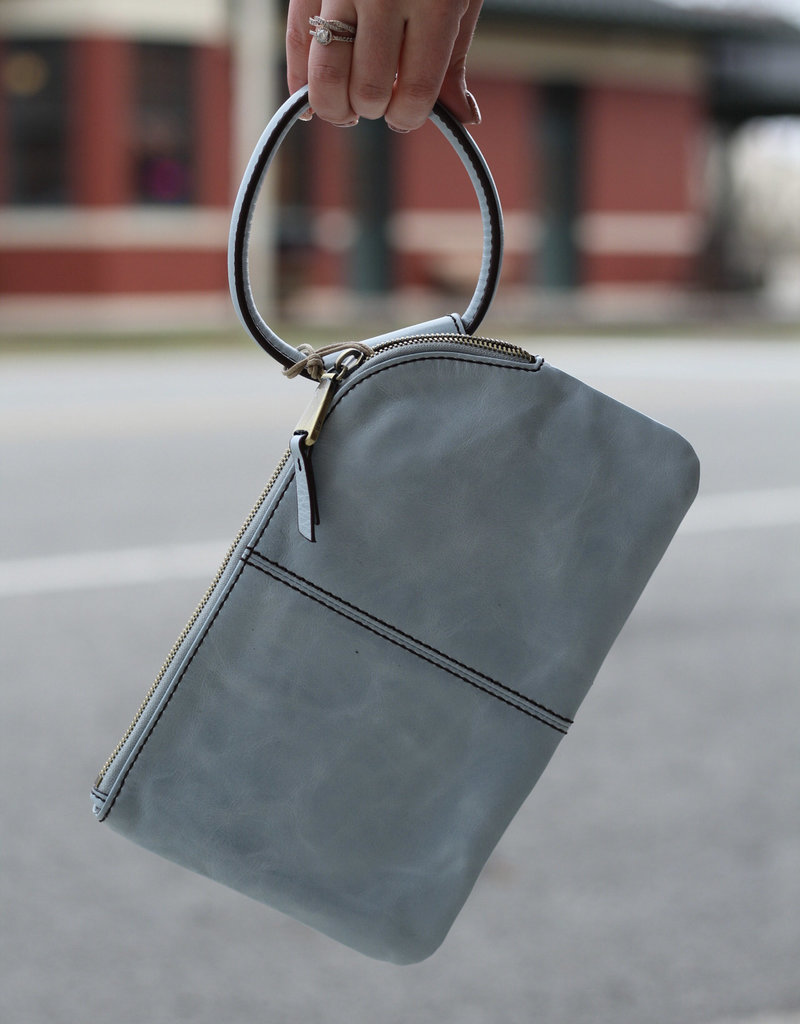 HOBO Sable Blue Leather Clutch