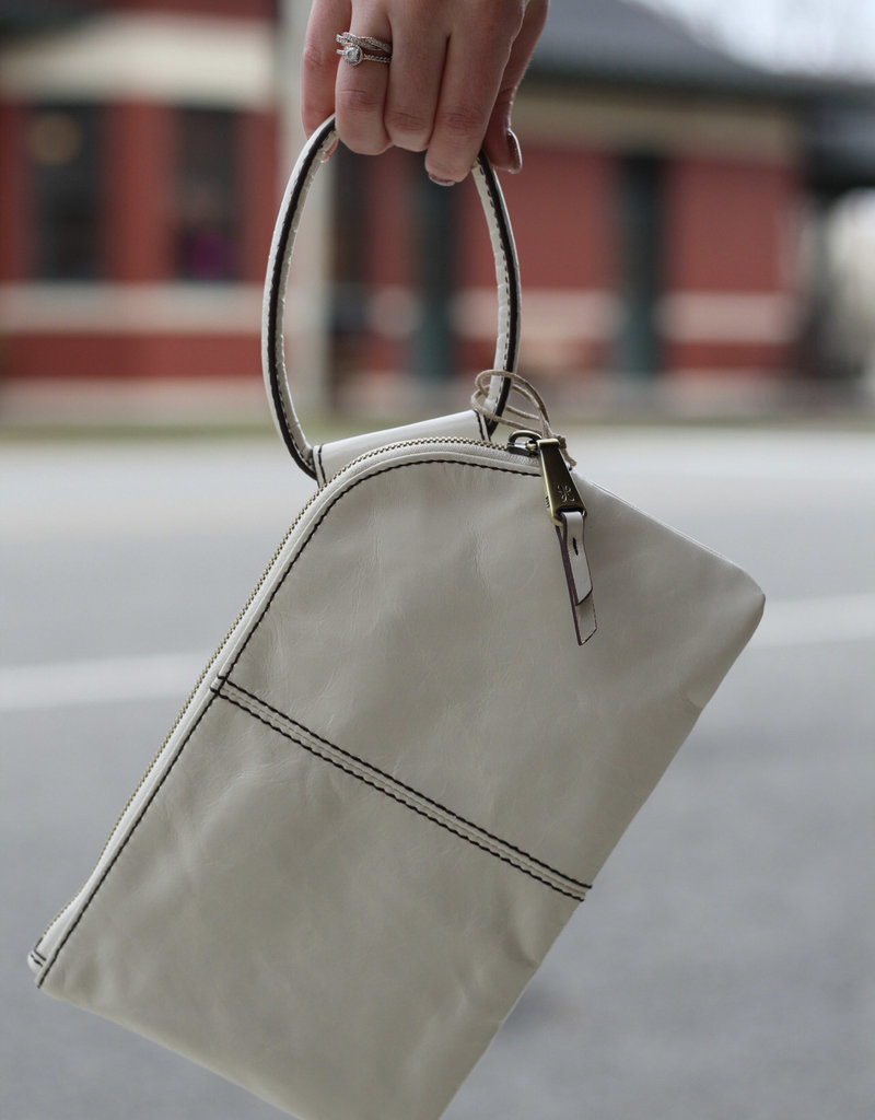 HOBO Sable White Latte Leather Clutch