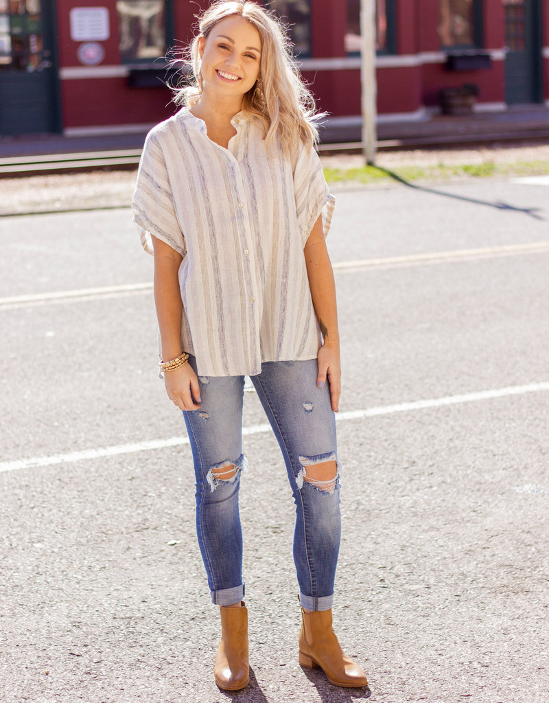 LUXE Always Thinking About You Stripe Top