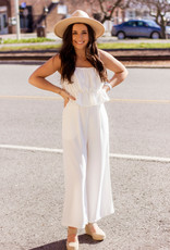 LUXE Playful Pursuit White Romper