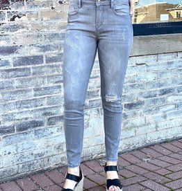 LUXE KYLIE MID RISE LIGHT GREY SKINNY