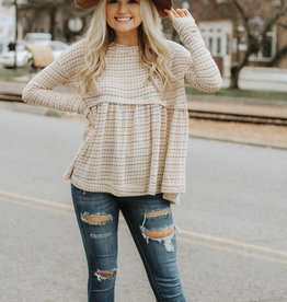 LUXE FIND THE TIME STRIPED BLOUSE