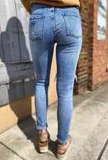 LUXE THE RUTH DISTRESSED MEDIUM WASH JEANS