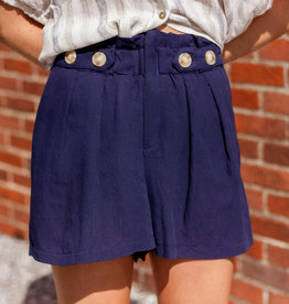 LUXE Never Too Busy Pleated Shorts