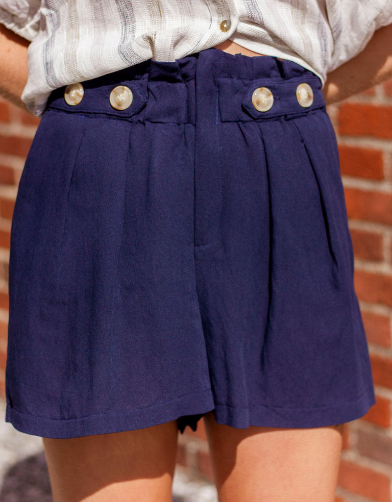 LUXE Never Too Busy Pleat Shorts