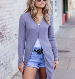 LUXE Love From The Start Grey Cardigan