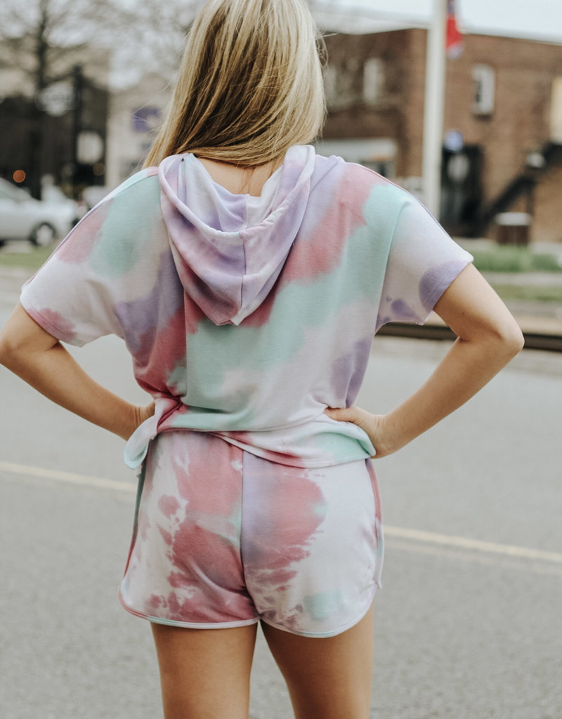 LUXE Just Let Your Hair DownTie Dye Hoodie