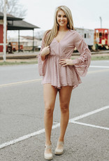 LUXE Weekend Wishes Mauve Romper