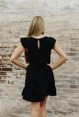 LUXE Complete My Heart Black Dress