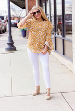 LUXE n my Own Space Speckled Mustard Blouse