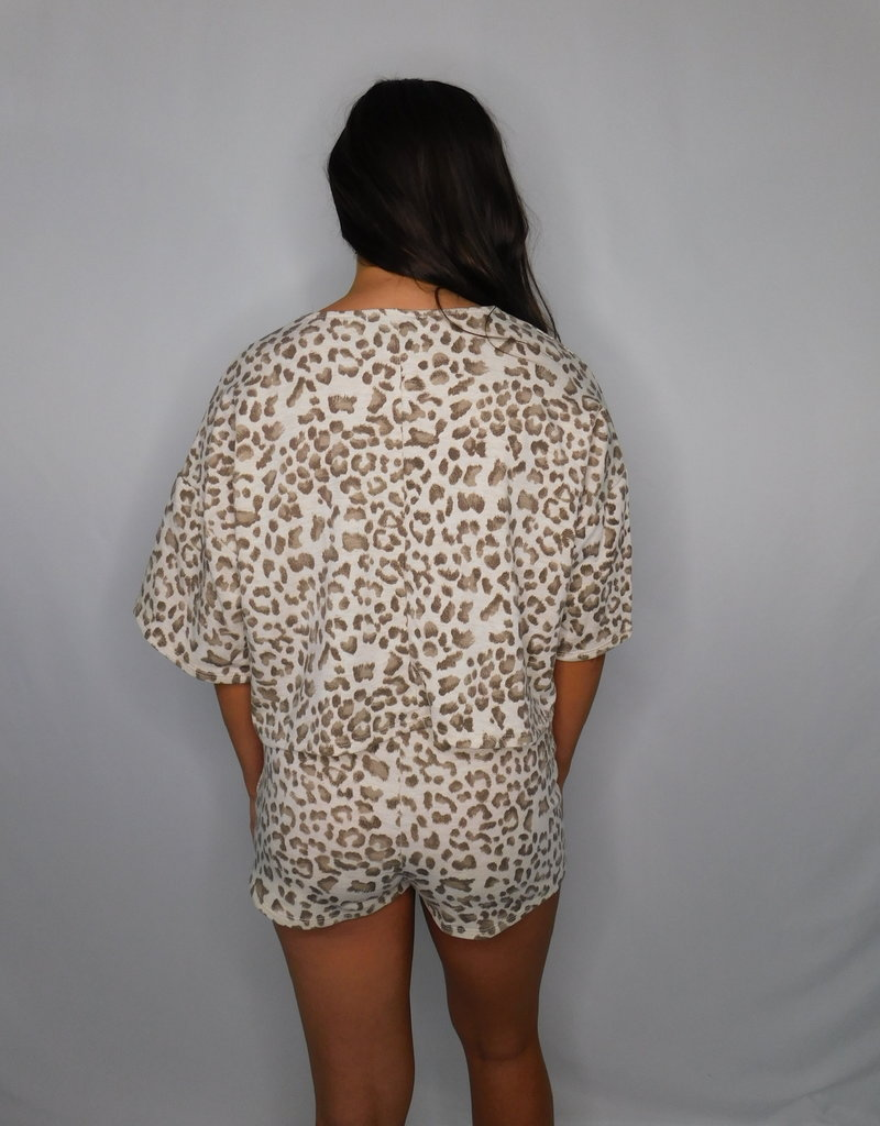 LUXE Give Into Me Animal Print Shorts