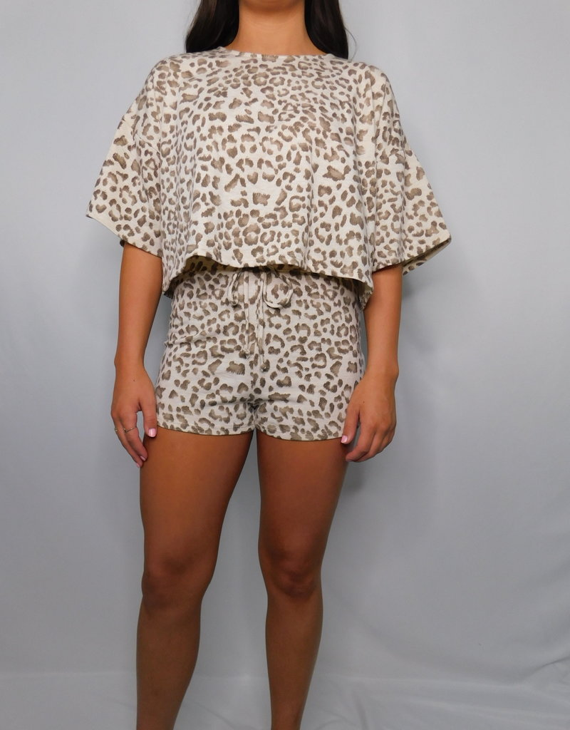 LUXE Give Into Me Animal Print Top