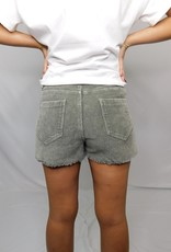 LUXE Try to Keep Up Green Corduroy Shorts